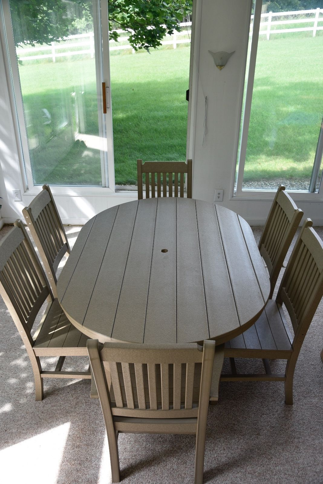 recycled plastic outdoor dining table chairs ebay dining room