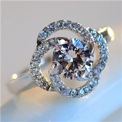 Ericdress Diamante Lucky Leaf Ring