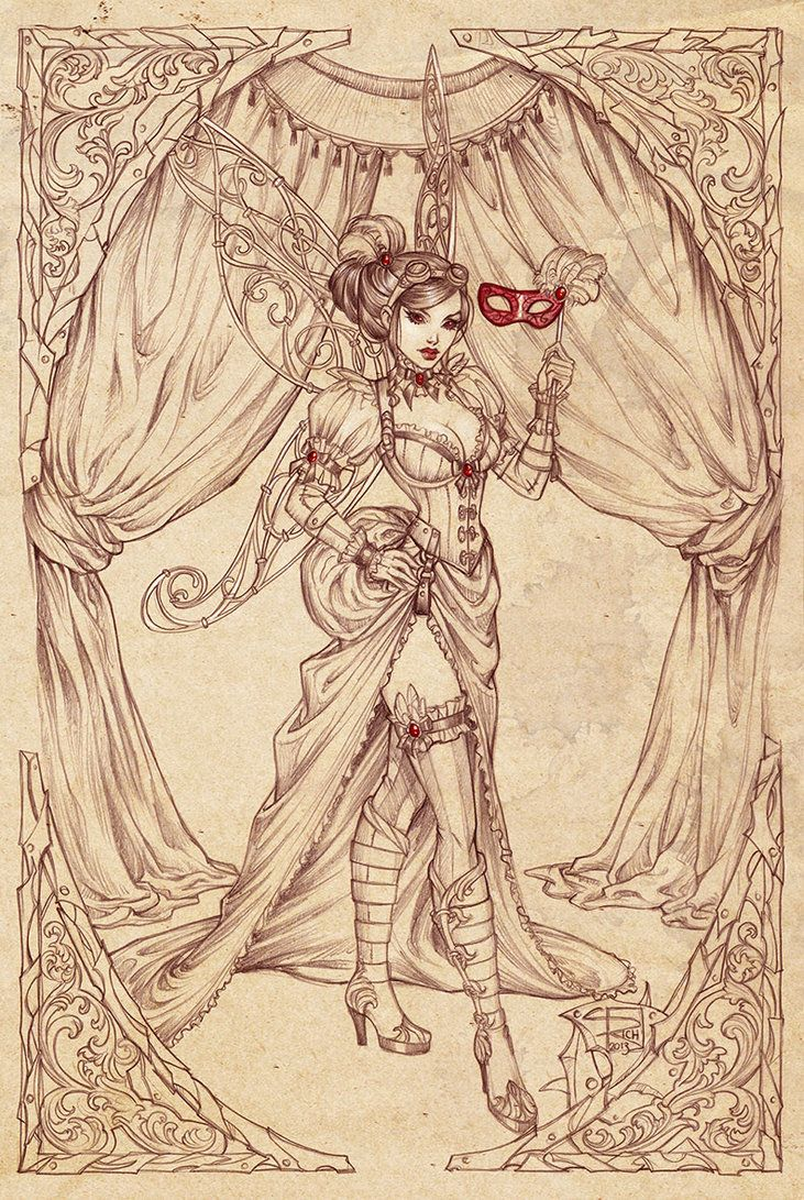 Lady mechanica commission by sabinerich on deviantart fairys