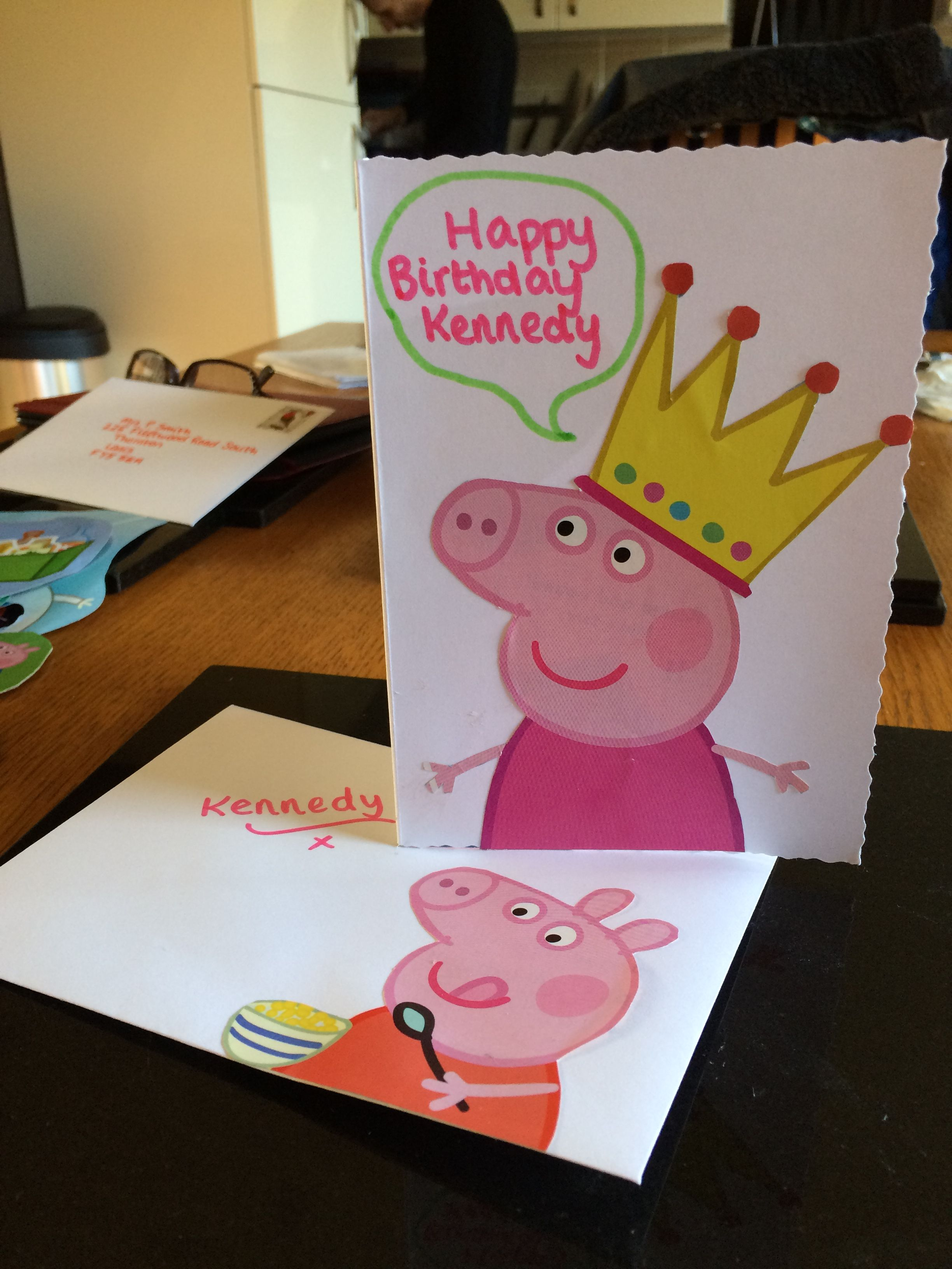 Peppa pig birthday card homemade unique homemade gifts