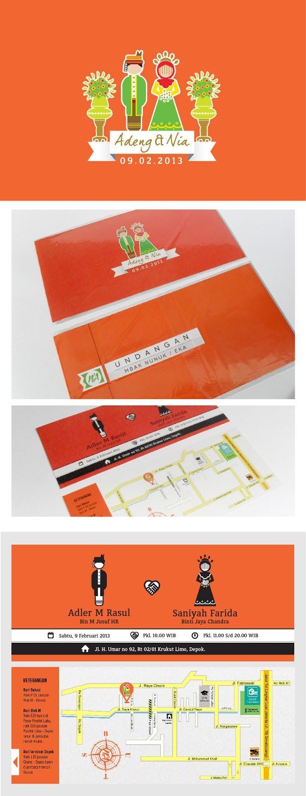 betawi wedding invitation | dsgn | Pinterest | Weddings and Wedding
