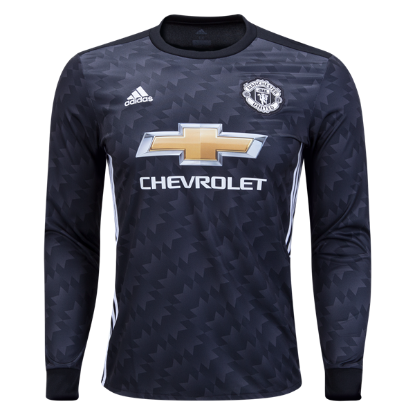 outlet store fa347 9f50e Buy adidas Manchester United Long Sleeve Away Jersey 17/18 ...