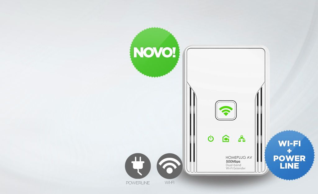 HomePlug Wi-Fi HL117EW  O sucessor do HL110EW, agora a 500 Mbps e compatível com redes 2.4GHz e 5GHz. Permite comunicar...
