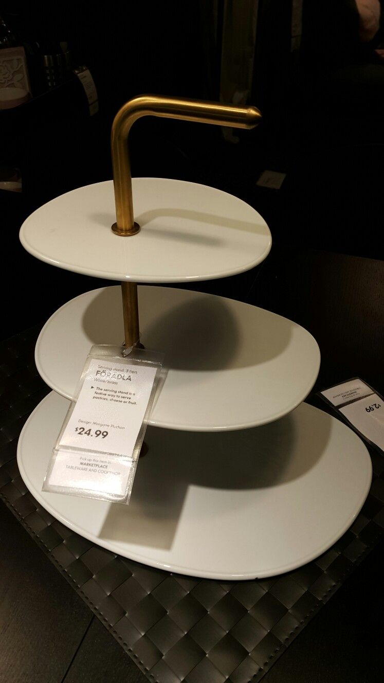 24 99 At Ikea Foradla 3 Tier Server Tiered Server Tiered Cakes Tiered Cake Stand