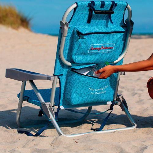 tommy bahama backpack beach chair wife s chair we are ready