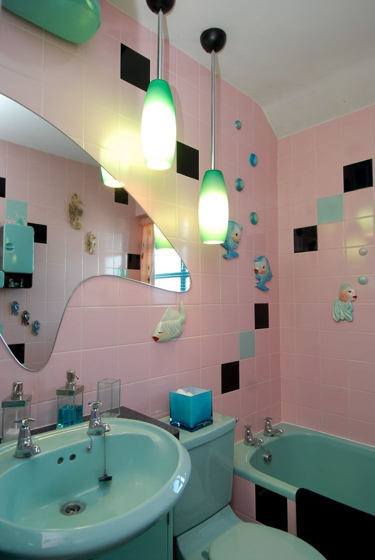Badezimmer design 1930 zu hause s bungalow planet sputnik bathroom  interieur  pinterest