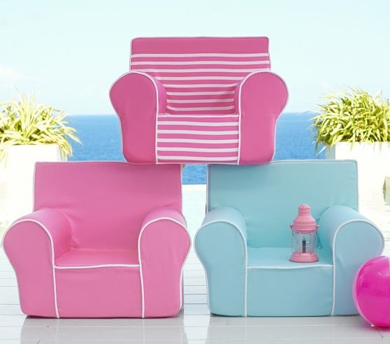 Bright Pink With White Piping Anywhere Chair 174 Kids
