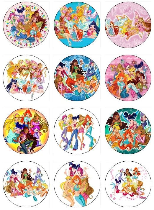 Edible The Winx Club Cupcake Toppers 12 Edible Images For