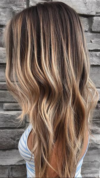 Cheveux long rooty bronde balayage highlights Hair