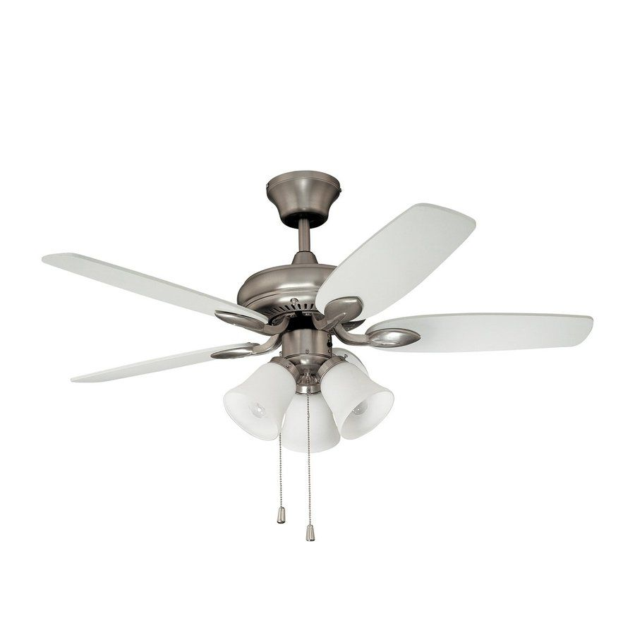 Kendal Lighting Cordova 42 In Satin Nickel Indoor Downrod Ceiling Fan With Light Kit 5 Blade Lowes Com Ceiling Fan With Light Ceiling Fan Fan Light
