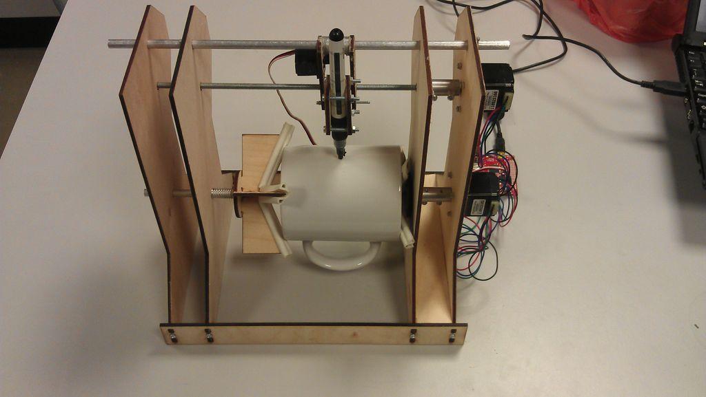 Mug Plotter Diy cnc, Mugs, 3d printing