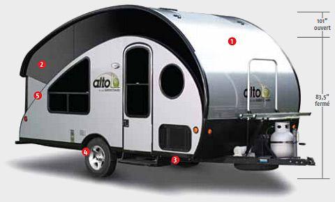 Alto Travel Trailer R1723Safari Condo  Includes Bathroom Inspiration Small Camping Trailers With Bathrooms Design Ideas