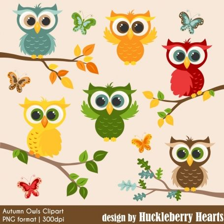 #newarrival - #Autumn #Owl Clipart - http://luvly.co/items/4912/Autumn-Owl-Clipart