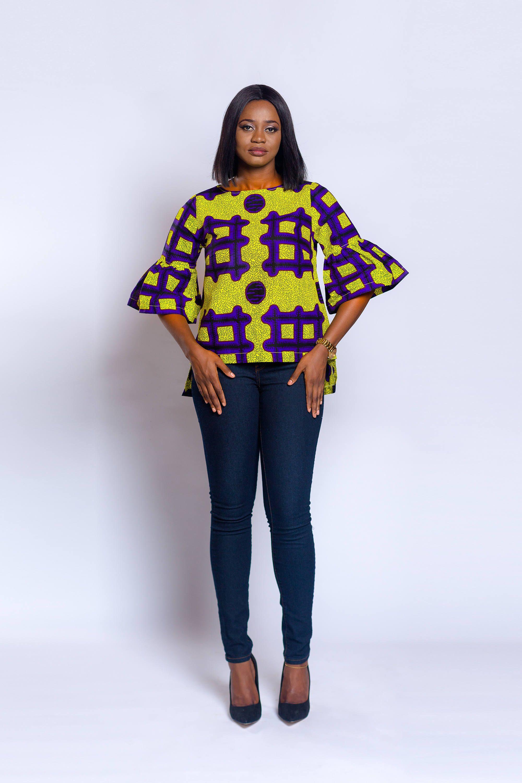 Top imprimé africain vêtements africain haut Ankara Model Pagne Africain,  Robe En Pagne Africain,