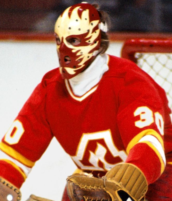 This fiery design speaks for itself, but the irony of this mask is that it was made by an Ottawa firefighter and former goaltender, Jim Homu...