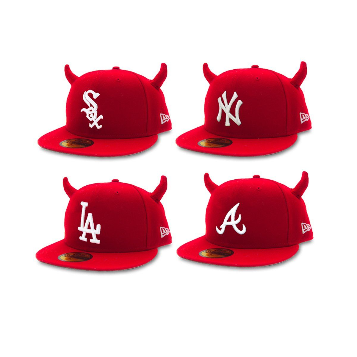 Horned Fitted Cap Ryder Studios Cap Fitted Hats Ny Hat