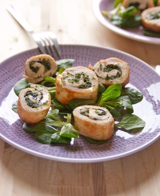 Questa sera, per  cena vi proponiamo #Involtini #pollo e #spinaci da accompagnare con un fresco #rosato #brio #Opus #Incertum #joele.  Ecco a voi la ricetta. Buon appettito!