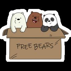 We Bare Bears Ice Bear With Knife Sticker - Sticker Mania