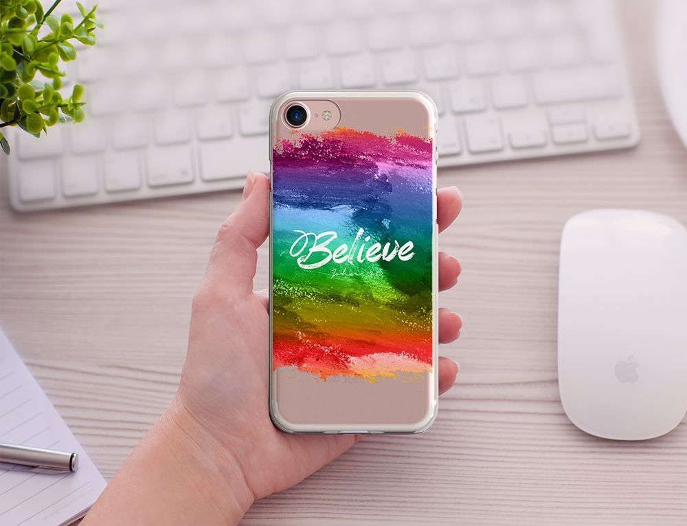 63216bcbb5d Believe John 3:16 Watercolor Painting, Bible Verse, Clear Transparent Case,  iPhone 5/5s/SE, 6/6S, iPhone 6/6sPlus, 7/7plus, Bible Scripture  #iphone6splus,