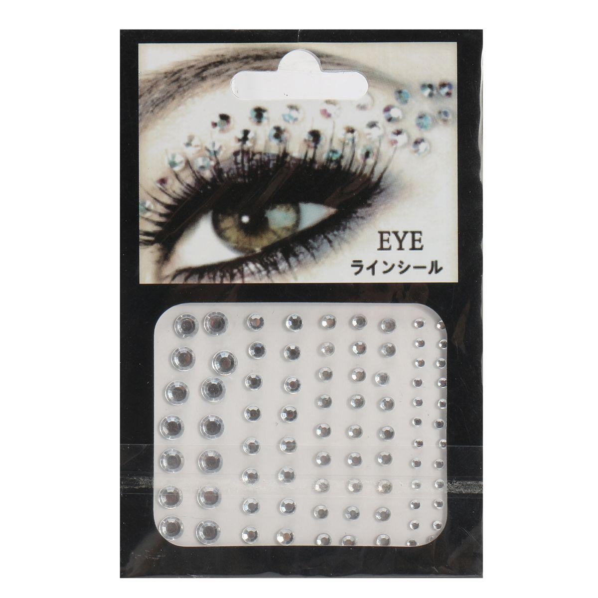 88b0dce1d0c Ojos de la joyería del partido de Víspera de Todos los Santos Maquillaje  Etiqueta engomada de los ojos del cristal Tatuaje Diamante Brilho  Maquillaje ...