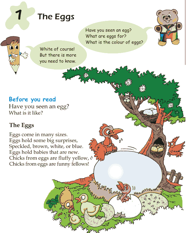Grade 1 Reading Lesson 1 Poetry – The Eggs | Grade 1 reading ...
