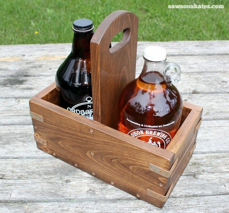 Diy Vintage Industrial Craft Beer Growler Carrier Beer Growler