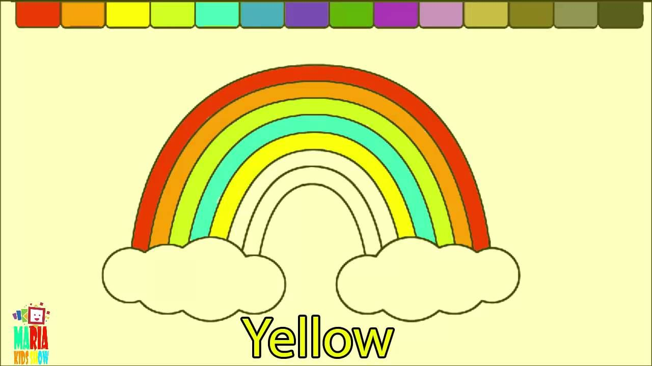 Learn Colors For Toddlers And Color Rainbow Coloring Page Colors For Toddlers Learning Colors Coloring Pages