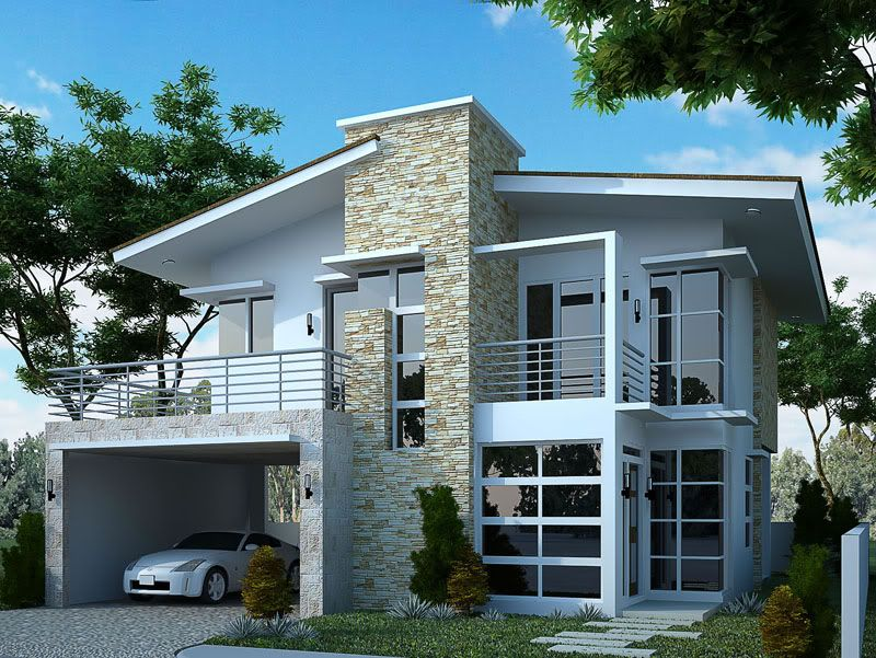 Modern 2 story house designs google search casas for Minimalist home designs philippines
