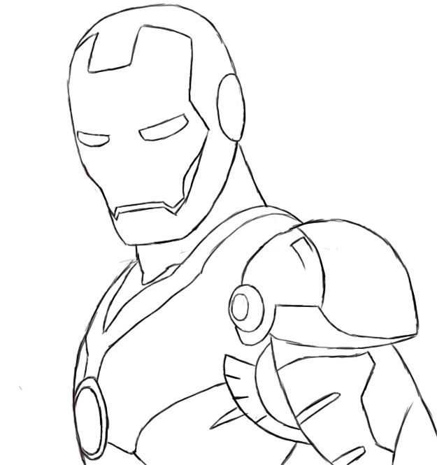 simple iron man sketches google search