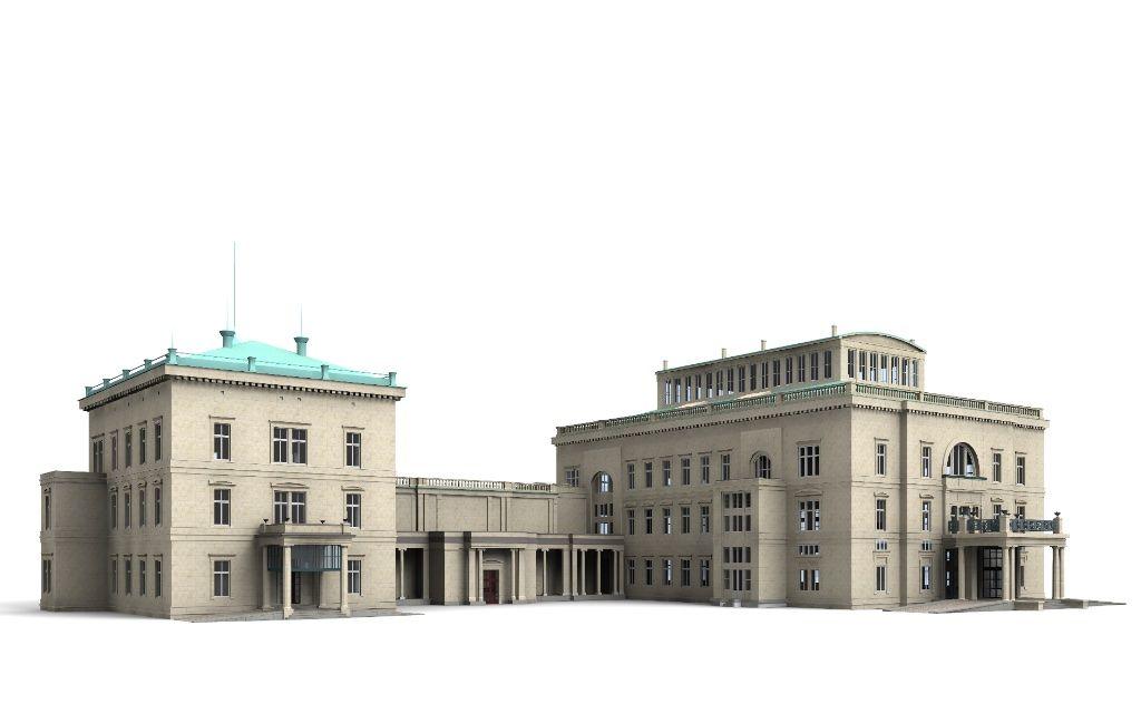 3D Model Villa Huegel, Essen c4d 3ds dae skp 3D