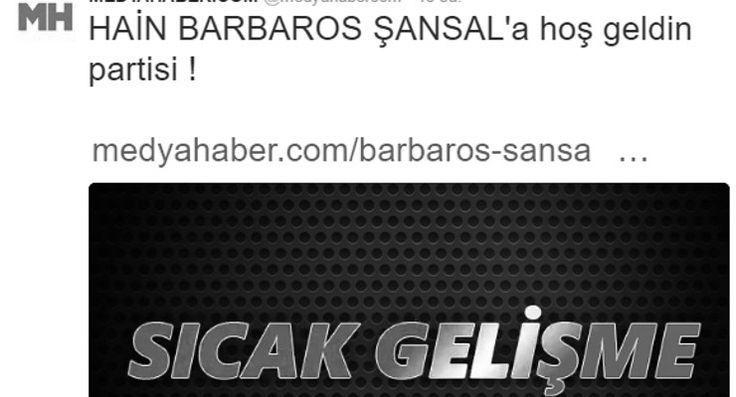 Beyaz TV spor müdürünün sitesi, Barbaros Şansal'ayönelik linç girişimini böyle gördü: Haine hoş geldin partisi