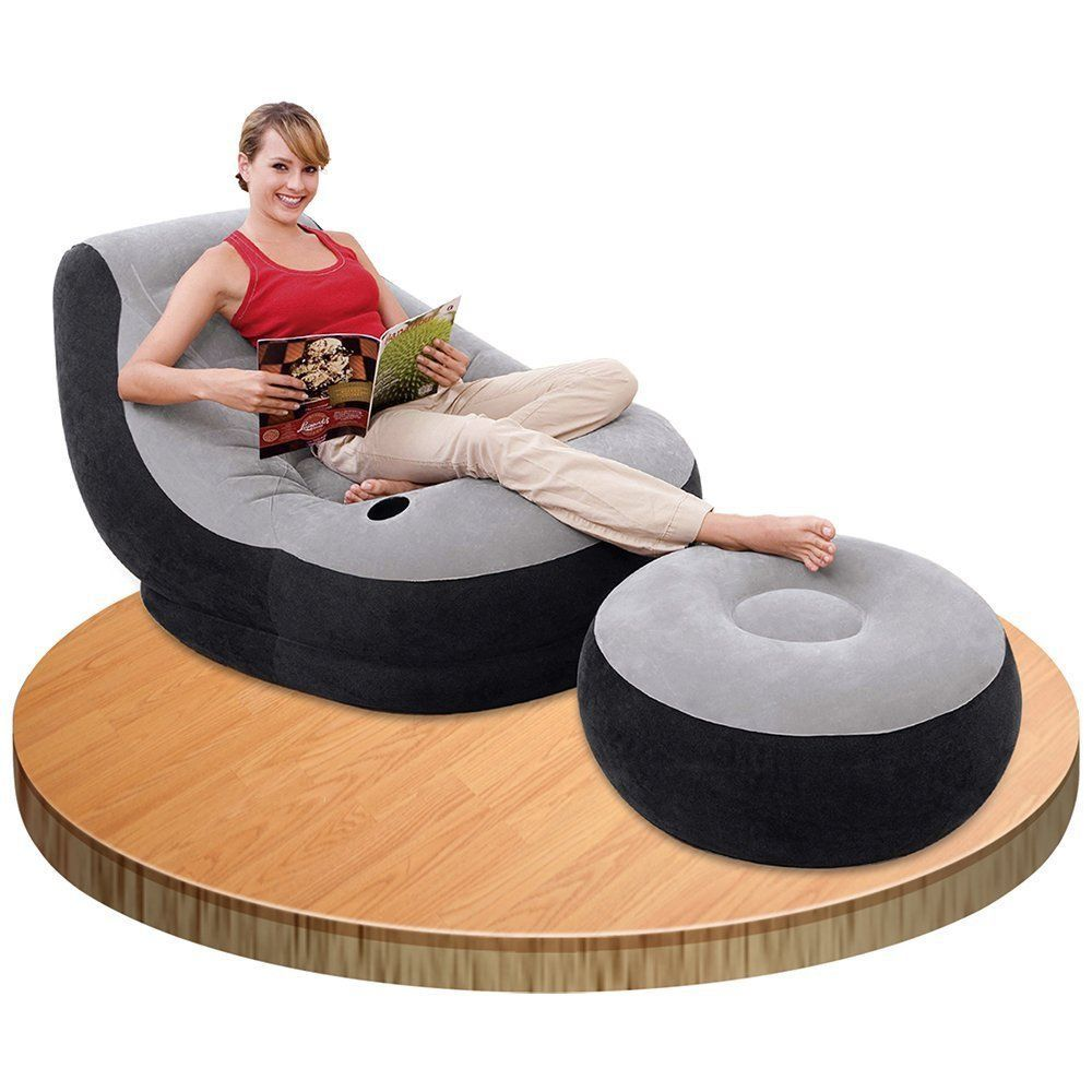 inflatable garden furniture. Intex Inflatable Ultra Lounge Ottoman Sofa Chair Camping Portable Dorm Air Bed In Home \u0026 Garden, Furniture, Bean Bags Inflatables | EBay Garden Furniture N