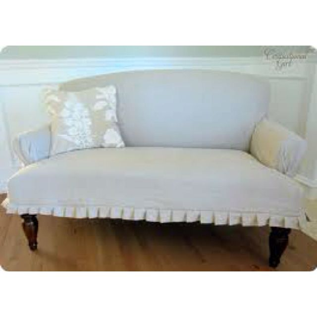 Terrific Settee Ruffle Cottage On The Beach Slipcovers Loveseat Pdpeps Interior Chair Design Pdpepsorg