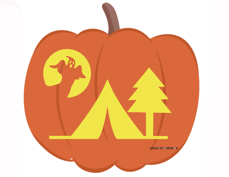 7 Spooky Camping Themed Pumpkin Carving Templates [Free PDF Printables]! – The Crazy Outdoor Mama