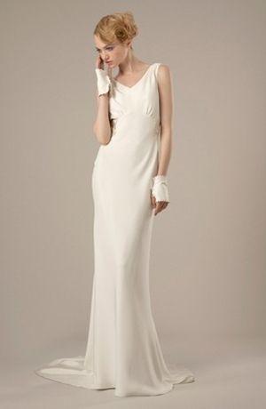 Silk Sheath Wedding Dresses_Wedding Dresses_dressesss