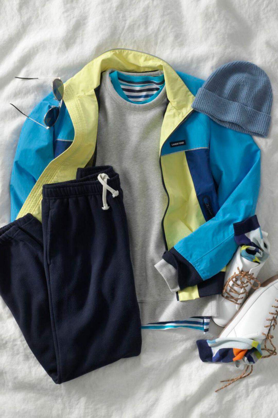 Men S Serious Sweatshirt Sweat Pants Lands End In 2021 Mens Winter Fashion Layering Outfits Sweatpants [ 1620 x 1080 Pixel ]