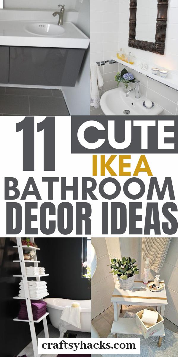 11 Stunning Ikea Bathroom Ideas For A Tiny Budget Ikea Bathroom Ikea Decor Ikea