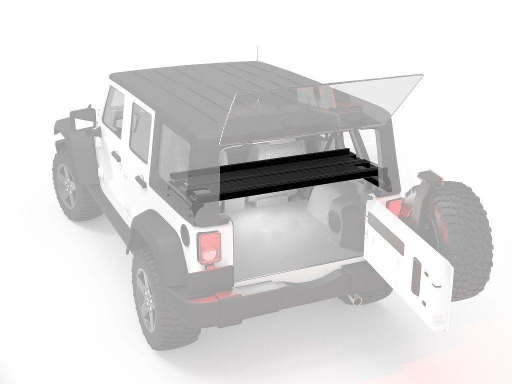 Jeep Wrangler Jku 4 Door Cargo Storage Interior Rack By Front Runner Cargo Storage Jeep Wrangler Jeep Wrangler Jk