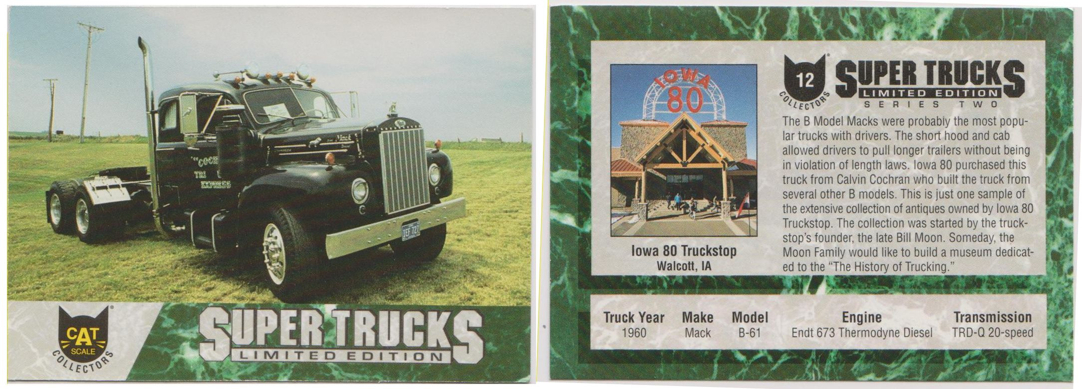 Series 2 Card 12 1960 Mack B61 Collector cards