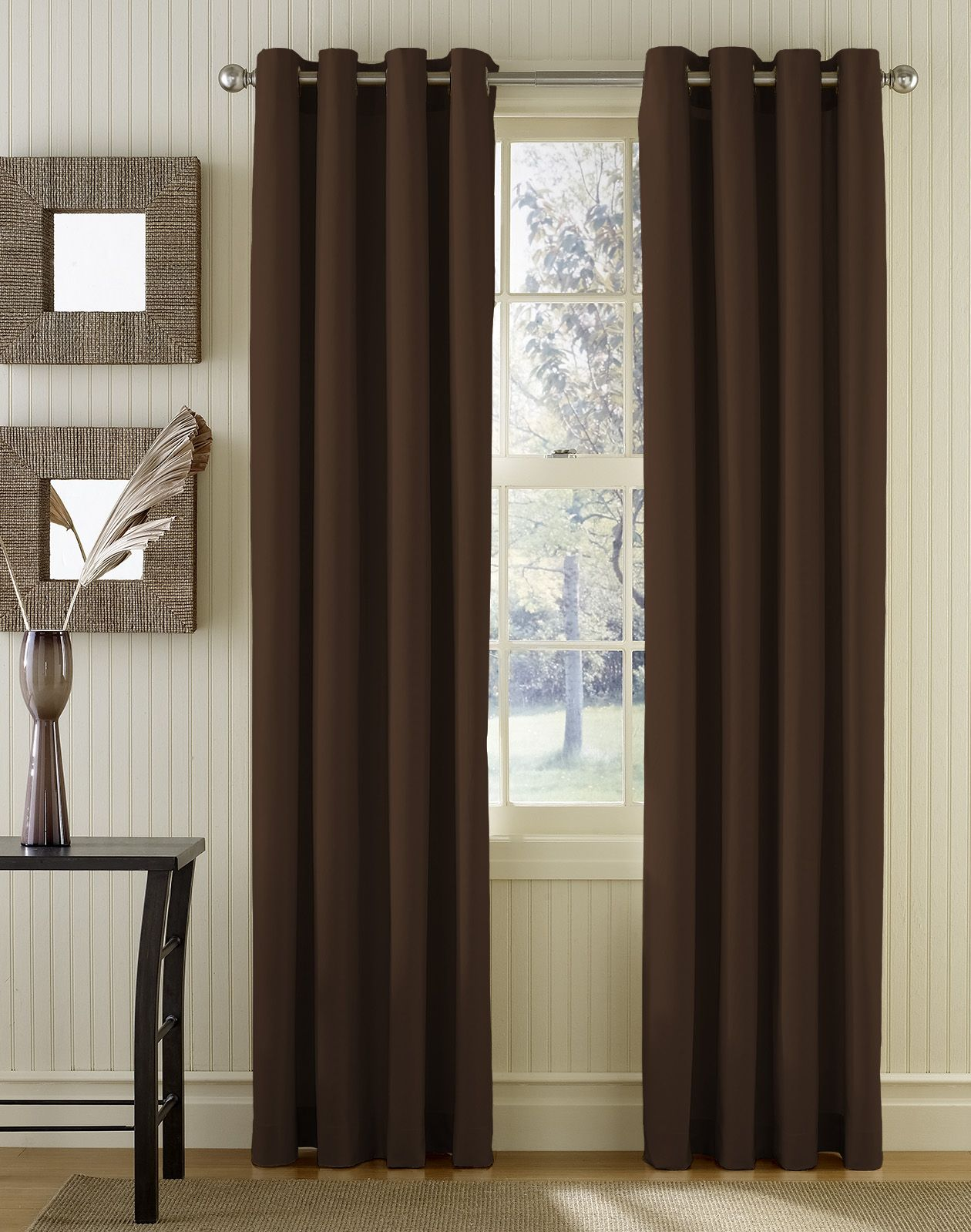 Grommet panel curtains are typically attached to the for Window panel design