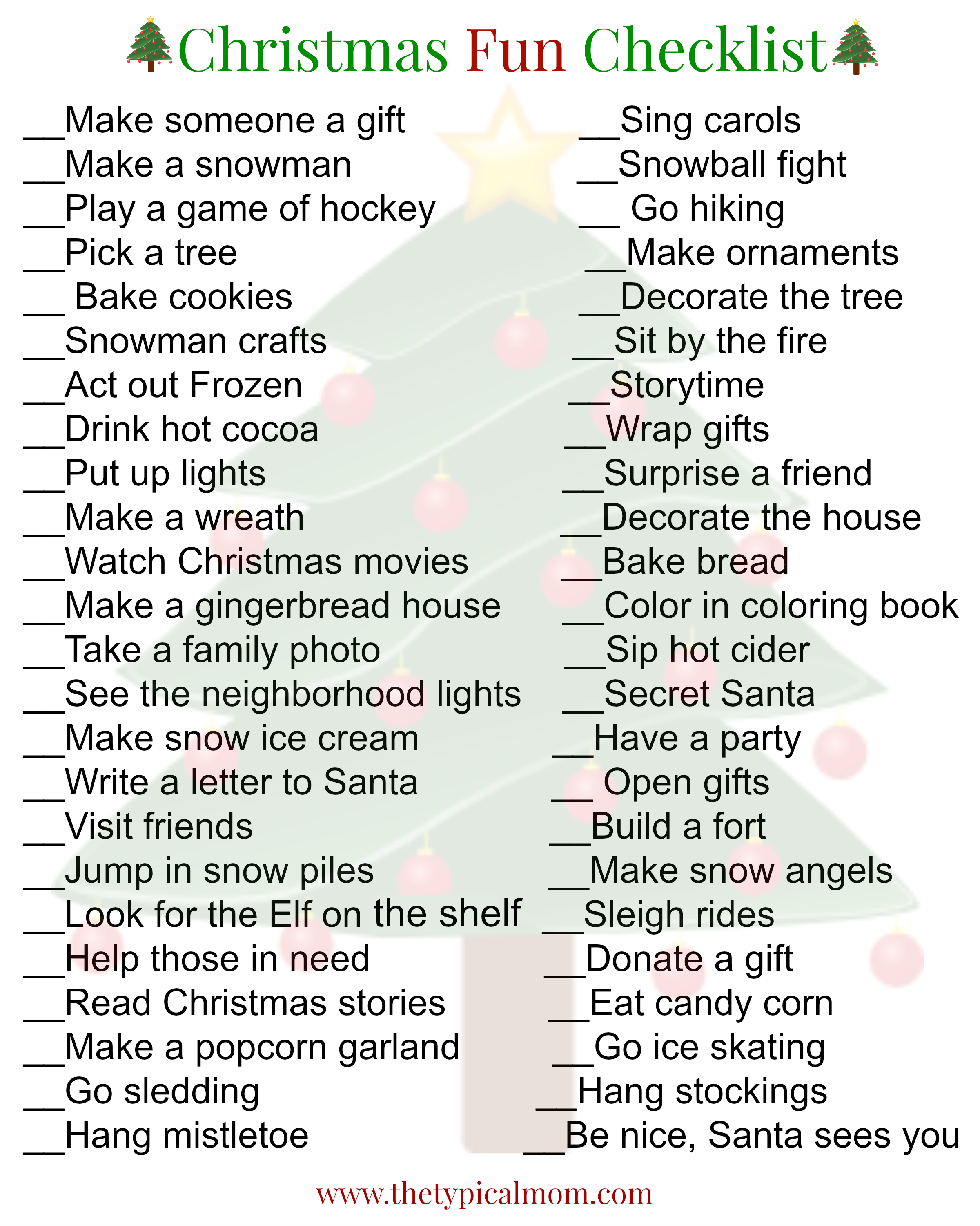 Christmas Activities For Kids Free Printable And Links To