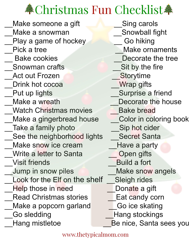 Christmas Activities For Kids Christmas Activities For Kids Christmas Activities Christmas To Do List