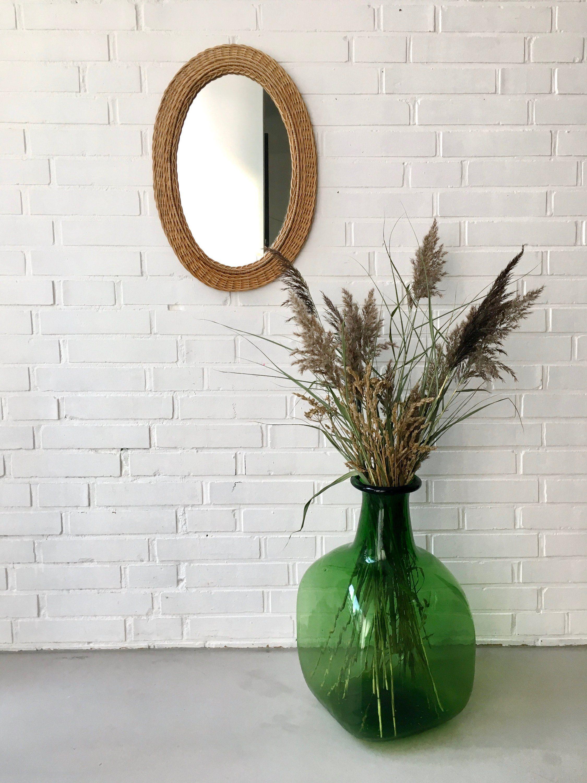 Wohnzimmer spiegelmöbel mid century mirror rattan mirror wall mirror mirror from basket