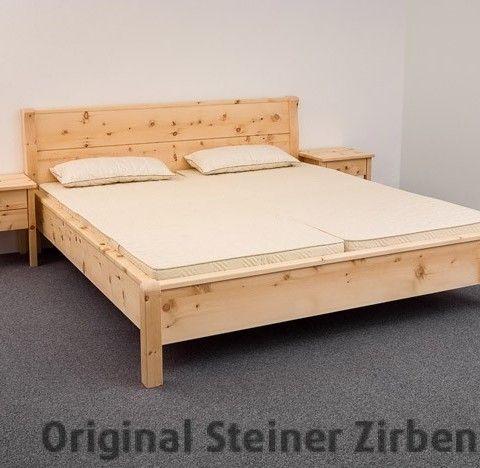 Zirbenbett Rotwand Doppelbett Massivholzbett (mit Bildern