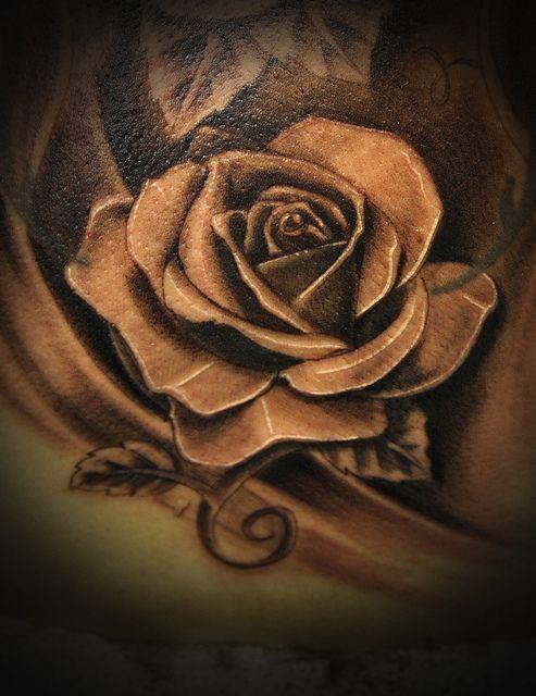 realistic rose tattoo black and grey Tatuajes, Rosas y Ideas de - tatuajes de rosas