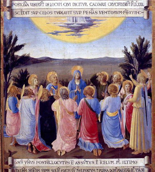BEATO ANGELICO - Ascensione, scena da Armadio degli Argenti - 1451-1453 - tempera su tavola - Museo di San Marco, Firenze