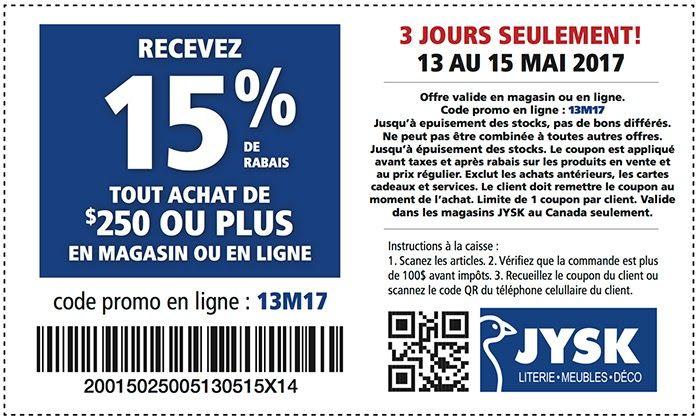 Coupon Rabais Jysk Quebec Coupons Quebec Mobile Boarding Pass