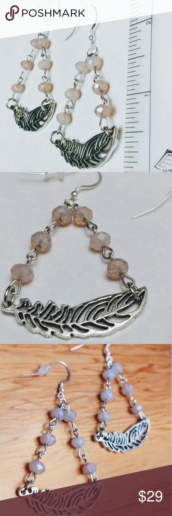 Fabulous Hetty Sterling Silver Feather Earrings