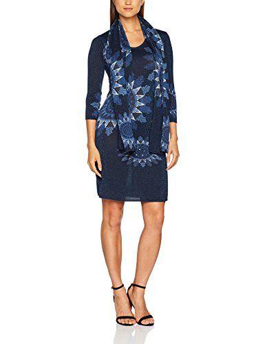 ULLA POPKEN FASHION Jerseykleid mit Stein-Detail schwarz NEU