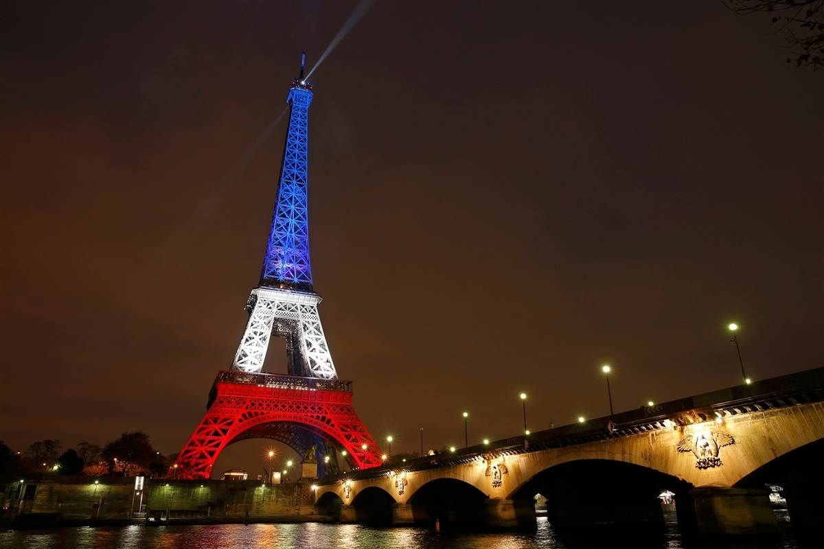 - Eiffel Tower Glows In French Colors To Honor Victims Tour Eiffel